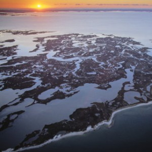 Aerial of Cedar Island National Wildlife Refuge, MD.